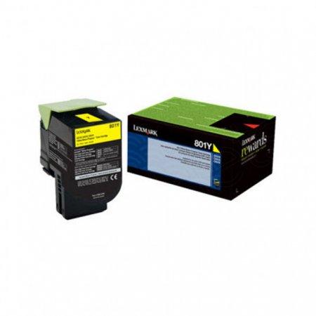 Lexmark 80C10Y0 Yellow OEM Laser Toner Cartridge