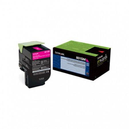 Lexmark 80C1SM0 Magenta OEM Laser Toner Cartridge