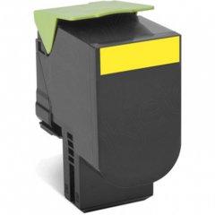 Lexmark 80C1SY0 Yellow OEM Laser Toner Cartridge