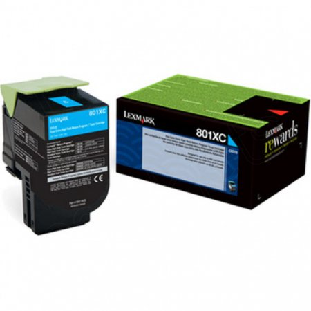 Lexmark 80C1XC0 (801XC) HY Cyan OEM Toner Cartridge