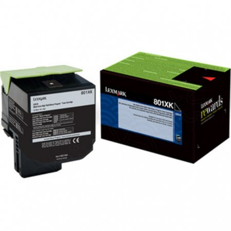 Lexmark 80C1XK0 (801XK) Extra HY Black OEM Toner