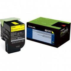 Lexmark 80C1XY0 (801XY) HY Yellow OEM Toner Cartridge