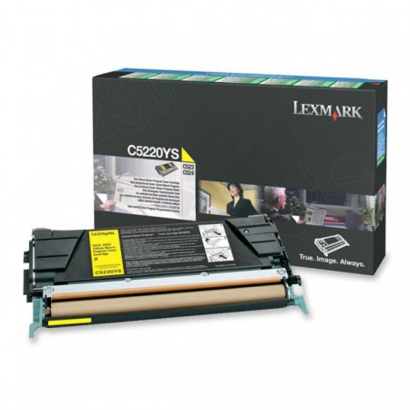 Lexmark C5220YS Yellow OEM Laser Toner Cartridge