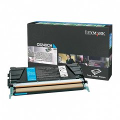 Lexmark C5240CH High-Yield Cyan OEM Laser Toner Cartridge