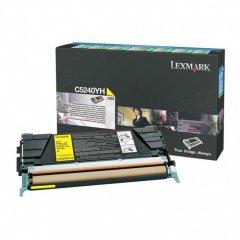 Lexmark C5240YH High-Yield Yellow OEM Laser Toner Cartridge