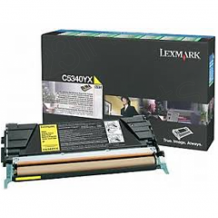Lexmark C5340YX EHY Yellow OEM Laser Toner Cartridge