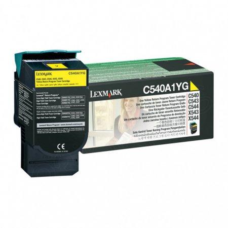 Lexmark C540A1YG Yellow OEM Laser Toner Cartridge