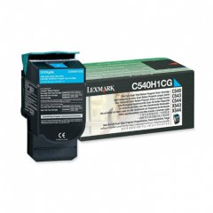 Lexmark C540H1CG High-Yield Cyan OEM Laser Toner Cartridge