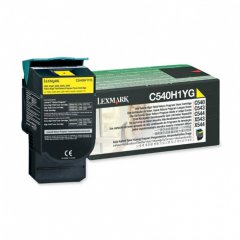 Lexmark C540H1YG High-Yield Yellow OEM Toner Cartridge