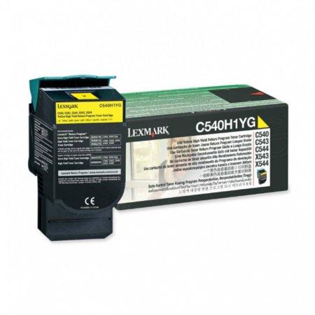 Lexmark C540H1YG High-Yield Yellow OEM Toner Cartridge