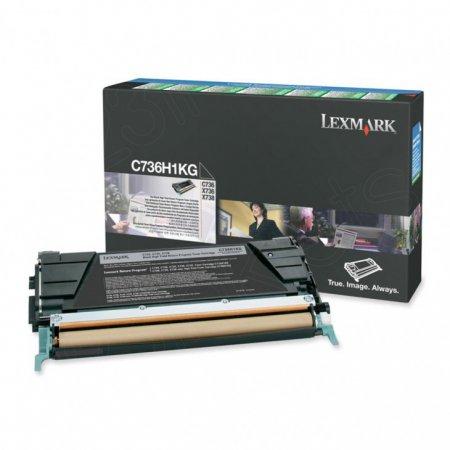 Lexmark C736H1KG High-Yield Black OEM Laser Toner Cartridge