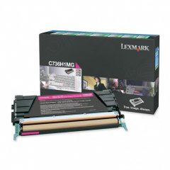 Lexmark C736H1MG High-Yield Magenta OEM Toner Cartridge