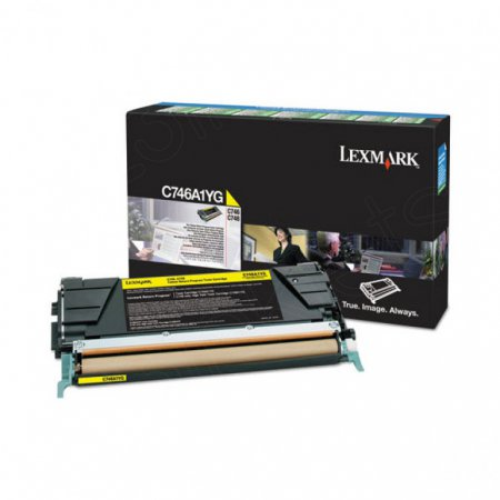 Lexmark C746A1YG Yellow OEM Laser Toner Cartridge