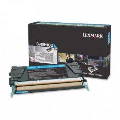 Lexmark C748H1CG High-Yield Cyan OEM Laser Toner Cartridge