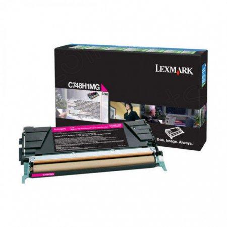 Lexmark C748H1MG High-Yield Magenta OEM Toner Cartridge