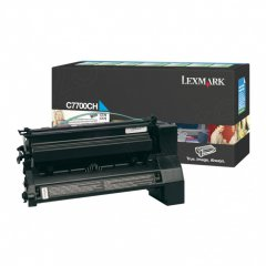 Lexmark C7700CH High-Yield Cyan OEM Laser Toner Cartridge