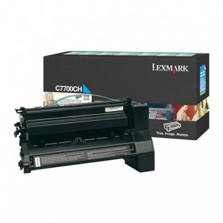 Lexmark C7700CH High-Yield Cyan OEM Laser Toner Cartridge