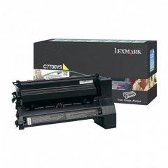 Lexmark C7700YS Yellow OEM Laser Toner Cartridge