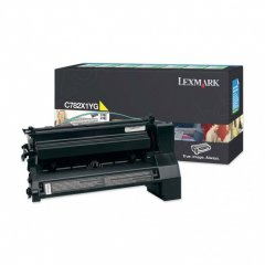 Lexmark C782X1YG EHY Yellow OEM Laser Toner Cartridge