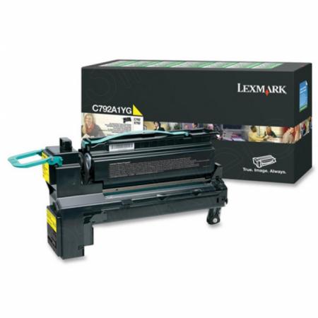 Lexmark C792A1YG Yellow OEM Laser Toner Cartridge