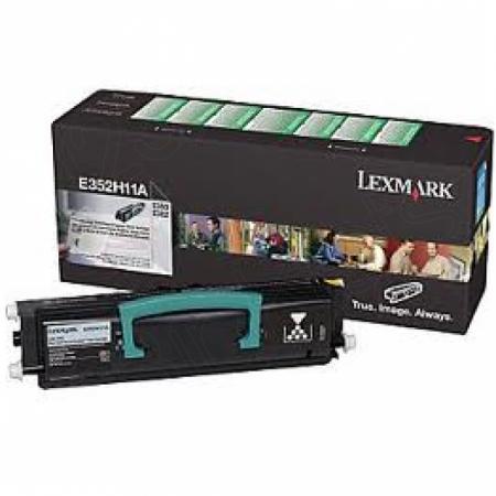 Lexmark E352H11A High-Yield Black OEM Laser Toner Cartridge