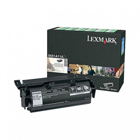 Lexmark X651A11A Black OEM Laser Toner Cartridge