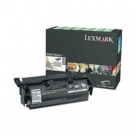 Lexmark X651H04A High-Yield Black OEM Laser Toner Cartridge