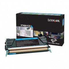 Lexmark X746A1CG Cyan OEM Laser Toner Cartridge