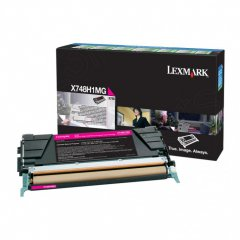 Lexmark X748H1MG High-Yield Magenta OEM Toner Cartridge