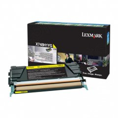 Lexmark X748H1YG High-Yield Yellow OEM Toner Cartridge