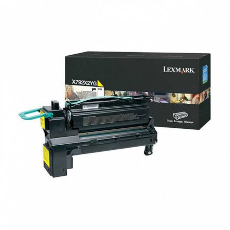 Lexmark X792X2YG EHY Yellow OEM Laser Toner Cartridge
