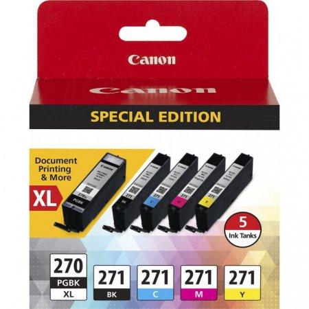 OEM Canon 0319C006 (PGI-270XL and CLI-271) Ink Black & Tri-color