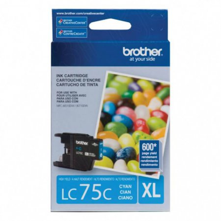 Brother Innobella LC75C Ink Cartridge, Cyan, OEM