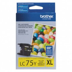 Brother Innobella LC75Y Ink Cartridge, Yellow, OEM