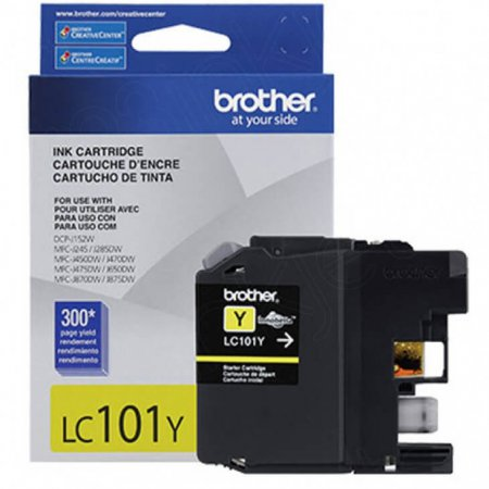 Brother LC101Y Ink Cartridge, Yellow, OEM