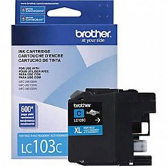 Brother LC103C Ink Cartridge, HY Cyan, OEM