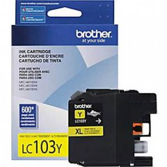 Brother LC103Y Ink Cartridge, HY Yellow, OEM