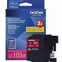 Brother LC105M Ink Cartridge, Super HY Magenta, OEM