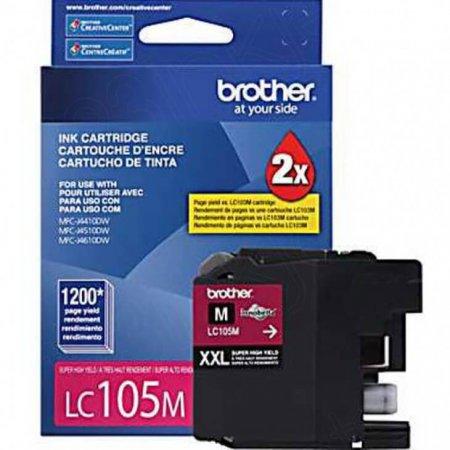Brother LC105M Ink Cartridge, Super HY Magenta, OEM