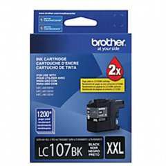 Brother LC107BK Ink Cartridge, Super HY Black, OEM