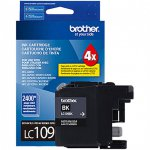 Brother LC109BK Ink Cartridge, Super HY Black, OEM