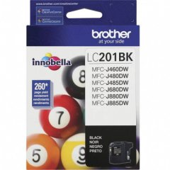 Brother LC201BK Ink Cartridge,  Black, OEM