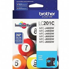 Brother LC201C Ink Cartridge, Cyan, OEM