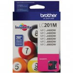 Brother LC201M Ink Cartridge,  Magenta, OEM
