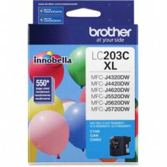 Brother LC203C Ink Cartridge, HY Cyan, OEM