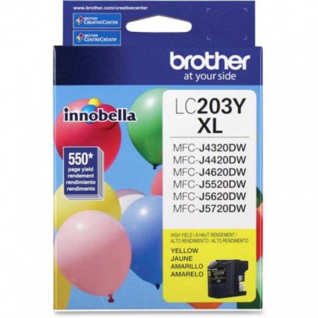 Brother LC203Y Ink Cartridge, HY Yellow, OEM