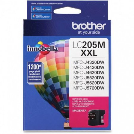 Brother LC205M Ink Cartridge, Super HY Magenta