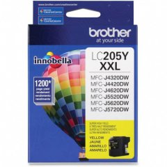 Brother LC205Y Ink Cartridge, Super HY Yellow