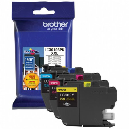 OEM Brother LC30193PK Super High Yield C/M/Y Super High Yield Ink