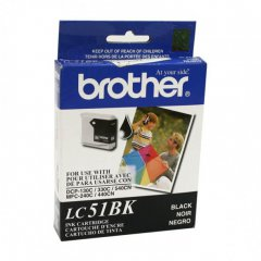 Brother LC51BK (LC51) Ink Cartridge, Black, OEM